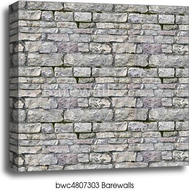 . Seamless high resolution brick texture canvas print