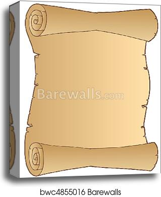 Old paper scroll canvas print