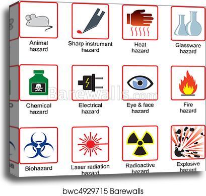 Canvas Print Of Laboratory Safety Symbols Barewalls Posters