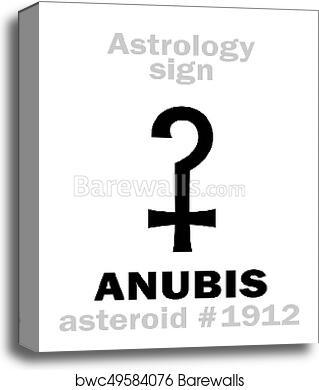 Astrology: asteroid ANUBIS canvas print