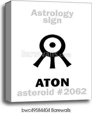 Astrology: asteroid ATON canvas print