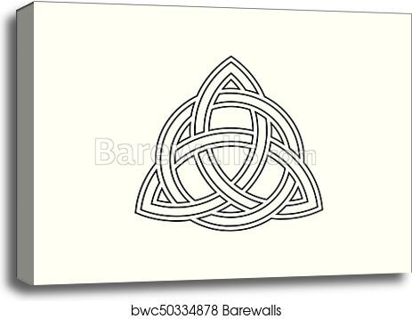 Triquetra  Trinity knot  Celtic symbol of eternity  Vector illustration  canvas print