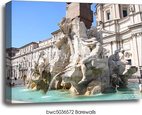 Rome Italy poster Piazza Navona