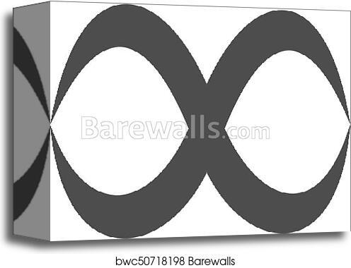 canvas print of infinity symbol loop figure 8 icon eternity logo