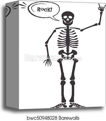 Canvas print of skeleton human anatomy vector halloween black canvas print of skeleton human anatomy vector halloween black skeleton isolated on white skeleton hand sign ok finger up finger down fist ccuart Images