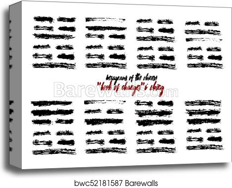 I Ching hexagram China book changes canvas print