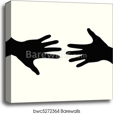 canvas print of deal done helping hand barewalls posters prints
