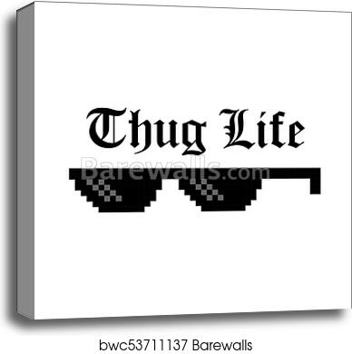 0e6d01e8 Creative vector illustration of pixel glasses of thug life meme isolated on  transparent background. Ghetto lifestyle culture art design. Mock up  template.