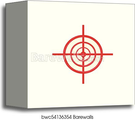 vector red sniper scope aim target icon canvas print barewalls posters prints bwc54136354 vector red sniper scope aim target icon canvas print