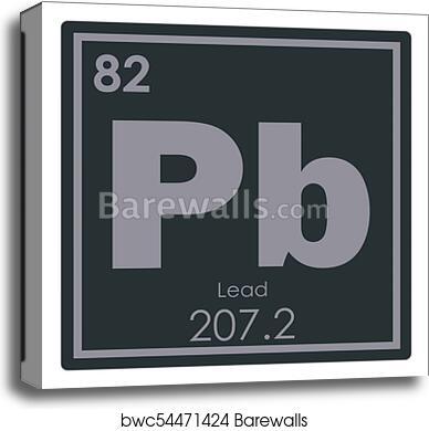 Canvas Print Of Lead Chemical Element Barewalls Posters Prints
