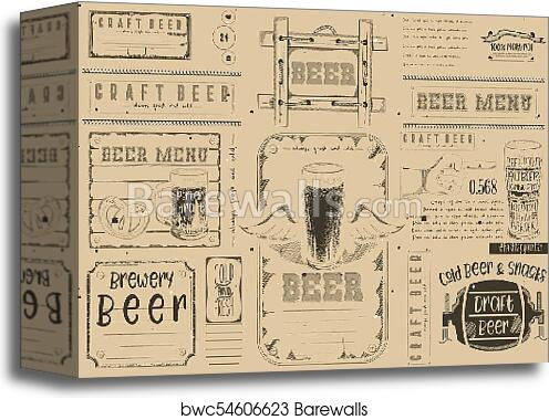 Canvas Print Of Beer Placemat Barewalls Posters Prints Bwc54606623