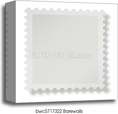 Blank Postage Stamp Canvas Print