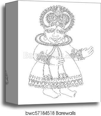 Drawing Of South Indian Traditional Kathakali Dancer Canvas Print Barewalls Posters Prints Bwc57184518