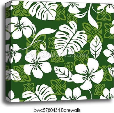 5728d3850090 Aloha Friday Hawaiian Shirt Pattern, Canvas Print | Barewalls ...