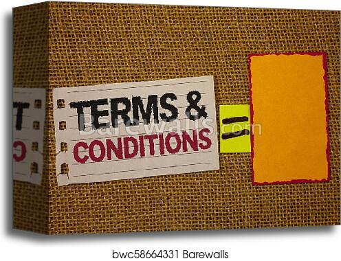 Canvas Print Of Handwriting Text Writing Terms And Conditions