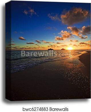 Pacific Sunrise At Lanikai Beach Hawaii Canvas Print