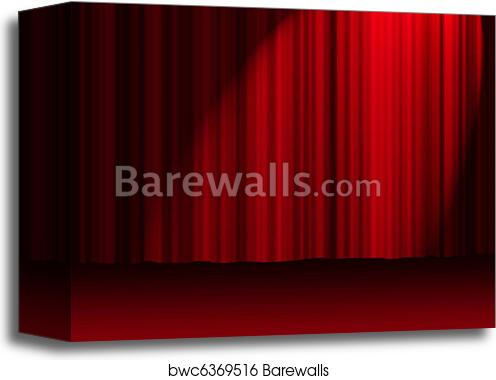 canvas print of red theater curtains barewalls posters prints