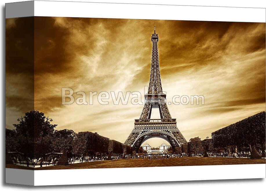 Eiffel Tower In Paris - 2 Art Print/Canvas Print Home Decor Wall Art ...