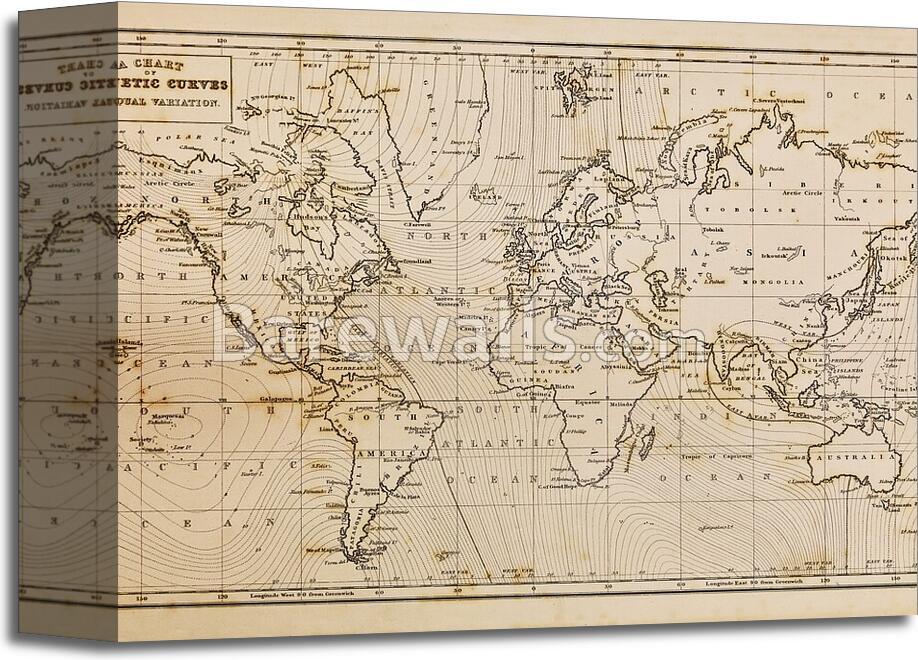 Old hand drawn vintage world map art printcanvas print home decor antiguo mapa del mundo vintage dibujado a mano gumiabroncs Gallery