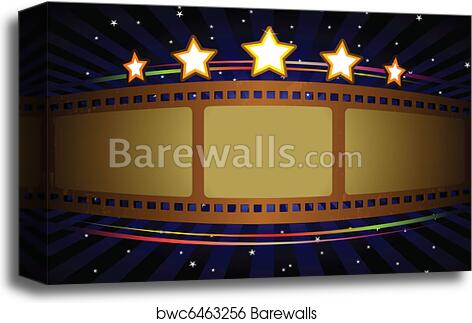 Movie Theater Background Canvas Print Barewalls Posters Prints Bwc6463256