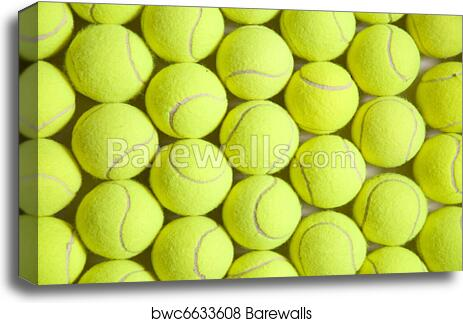 Tennis Ball Background Canvas Print Barewalls Posters Prints