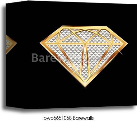 Canvas Print of Diamond bling bling  7c21a2e391d3