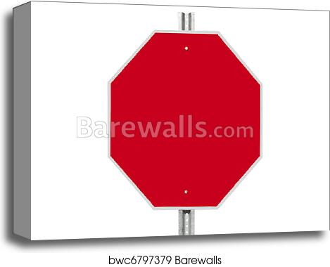 Blank Stop Sign Isolated canvas print