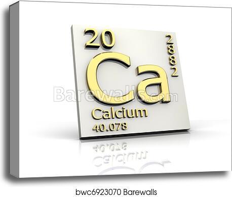 Canvas Print Of Calcium Form Periodic Table Of Elements Barewalls