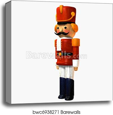 Toy Soldier Wooden Nutcracker Canvas Print