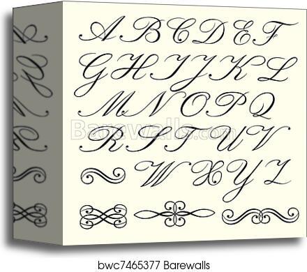 Script Alphabet Canvas Print Barewalls Posters Prints Bwc7465377
