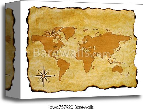 Old World Map Canvas.Old World Map Canvas Print Barewalls Posters Prints Bwc757920