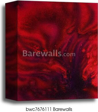 Canvas Print Of Floating Deep Red