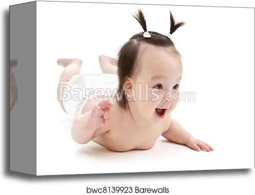 canvas print of baby girl smiling barewalls posters prints