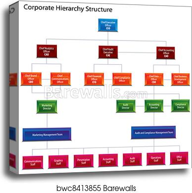 Corporate Hierarchy Structure Chart Canvas Print Barewalls Posters Prints Bwc8413855