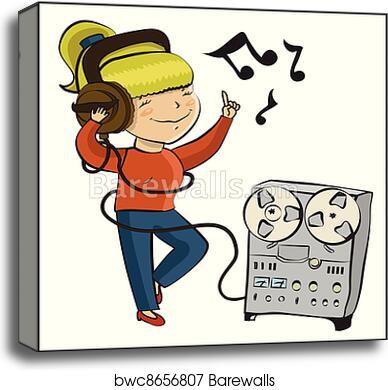 Listen To Music Cartoon Image — Quaribou