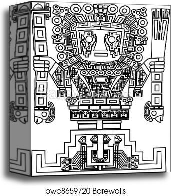 Canvas Print Of Vector Mayan And Inca Tribal Symbols Barewalls