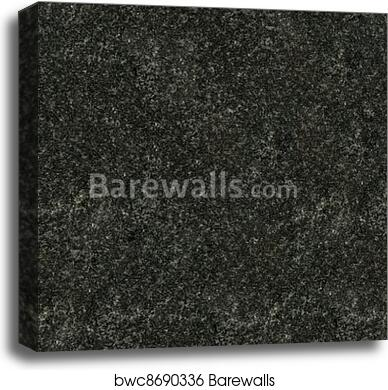 Seamless Black Granite Texture Canvas Print