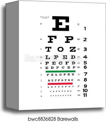 Canvas Print Of Eye Test Chart Barewalls Posters Prints Bwc8836828