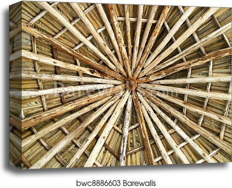 Wooden Roof Construction Canvas Print Barewalls Posters
