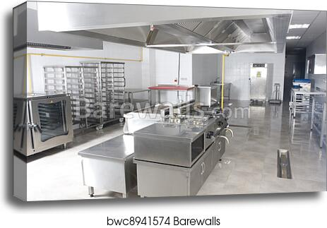 Canvas Print Of New Catering Kitchen | Barewalls Posters U0026 Prints |  Bwc8941574