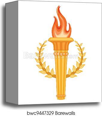 Canvas Print Of Greek Olympic Torch Barewalls Posters Prints