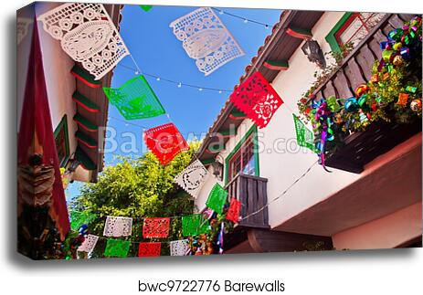 canvas print of christmas decorations old san diego town california barewalls posters prints bwc9722776